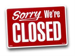 Closed for holliday